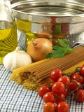 Unprepared spaghetti, closeup Royalty Free Stock Image