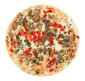Unprepared vegetarian pizza Royalty Free Stock Photography