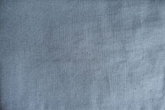 Unprinted greyish blue linen fabric. From above Stock Image