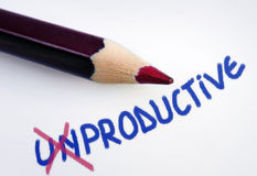 Unproductive word Royalty Free Stock Photo