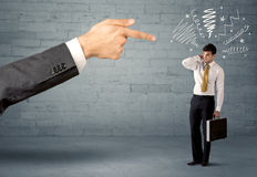Unprofessional salesman being fired Stock Image
