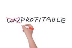 Unprofitable to profitable Royalty Free Stock Image