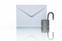 Unprotected mail royalty free stock image