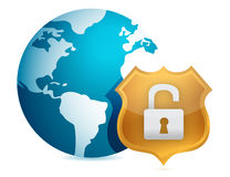 Unprotected security concept illustration Stock Photography
