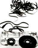 Unravalled Cassette Tape Royalty Free Stock Photo