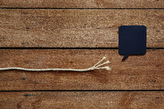 Unraveled rope with speech bubble Stock Image