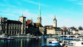 Unreal beauty of Zurich stock photo