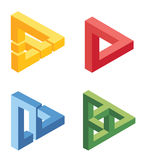 Unreal bright geometrical objects. On white Royalty Free Stock Image