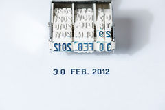 The Unreal Date. Idea of an unreal date - 30 Feb 2012, the date that does not exist - Hi Res Imager Stock Photography
