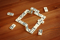 Unreal domino, illusion stock image