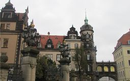 Unreal, fabulous beauty of the architecture of the city of Dresden. royalty free stock photography