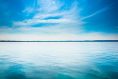 Unreal. Garda Lake - Colours of the lake in Sirmione Royalty Free Stock Photography