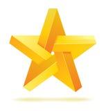 Unreal geometrical star vector. Optical illusion illustration Royalty Free Stock Photos