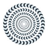 Unreal and hypnotic optical illusion. Creative trick and nystagmus vector illustration. vector illustration