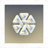 Unreal impossible geometric figure, vector element. For design royalty free illustration
