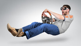 Unreal mad man driver Royalty Free Stock Image
