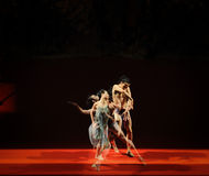 Unreal-Modern Ballet:Trollius chinensis. In May 19, 2014, a China sexy dance of the modern ballet Lotus in Nanchang Art Center. Staged, this work is based on the Royalty Free Stock Image