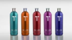 Unreal tatratea bottles Stock Images