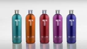 Unreal tatratea bottles. Non existing bottles of tatratea Stock Images