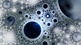 Unreal world bubbles. Distant planets. Royalty Free Stock Photo