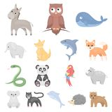 An unrealistic animal cartoon icons in set collection for design. Toy animals vector symbol stock web illustration. An unrealistic animal cartoon icons in set Royalty Free Stock Photo