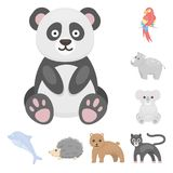 An unrealistic animal cartoon icons in set collection for design. Toy animals vector symbol stock web illustration. An unrealistic animal cartoon icons in set Stock Images
