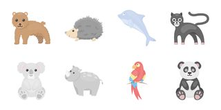 An unrealistic animal icons in set collection for design.. Toy animals vector symbol stock  illustration Stock Photos
