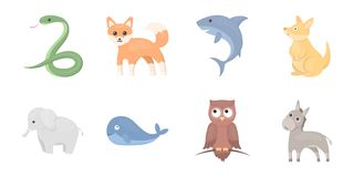 An unrealistic animal icons in set collection for design.. An unrealistic animal icons in set collection for design. Toy animals vector symbol stock Stock Photography