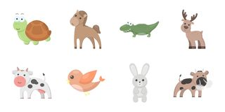 An unrealistic animal icons in set collection for design.. An unrealistic animal icons in set collection for design. Toy animals vector symbol stock Stock Photos