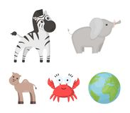 An unrealistic cartoon animal icons in set collection for design. Toy animals vector symbol stock web illustration. An unrealistic cartoon animal icons in set Stock Photo