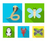 An unrealistic flat animal icons in set collection for design. Toy animals vector symbol stock web illustration. An unrealistic flat animal icons in set Stock Image