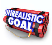 Unrealistic Goal Dynamite Bomb Impossible Mission Impractical Da Stock Image
