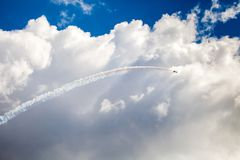 Unrecognizable airplane on airshow Royalty Free Stock Photography