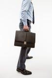Unrecognizable biznesmen trzyma teczkę Obraz Stock