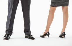 Unrecognizable business people's legs Stock Image