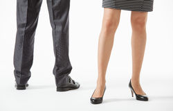 Unrecognizable business people's legs Stock Images
