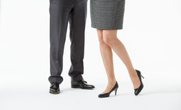 Unrecognizable business people's legs Royalty Free Stock Photo