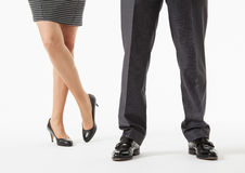 Unrecognizable business people's legs Royalty Free Stock Photography