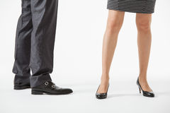 Unrecognizable business people's legs Royalty Free Stock Photos