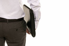 Unrecognizable businessman back with suitcase Stock Photos