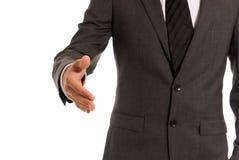 Unrecognizable businessman handshake copy-space. Unrecognizable businessman copy-space handshake closeup isolated on white background stock photos