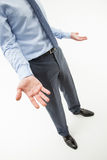 Unrecognizable businessman showing a gesture of a confusion Stock Photo