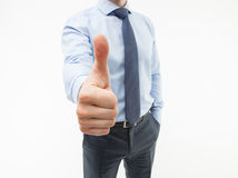 Unrecognizable businessman showing thumb up Royalty Free Stock Image