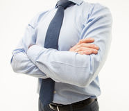 Unrecognizable businessman  standing in a pending pose Stock Image