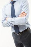 Unrecognizable businessman  standing in a pending pose Royalty Free Stock Photo