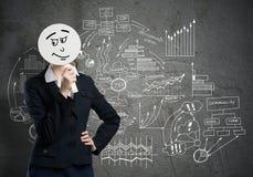Unrecognizable businesswoman Stock Images
