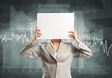 Unrecognizable businesswoman Stock Image