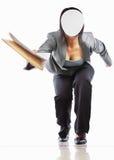 Unrecognizable businesswomangiving document Stock Photo