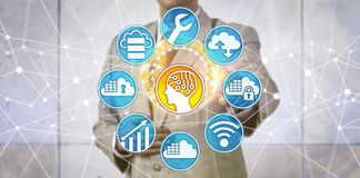 Data Manager Supporting AI Innovation Via Cloud Royalty Free Stock Image