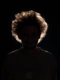 Unrecognizable man in black shadow Stock Image